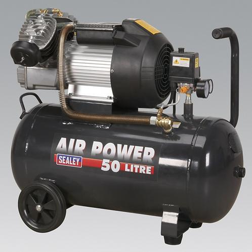V-Twin Cylinder Compressor 50L / 3hp - 230v