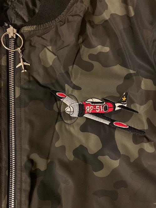 AF51- Red & bLAX Bomber Jacket
