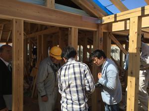 かぶら束の家 構造軸組み金物検査
