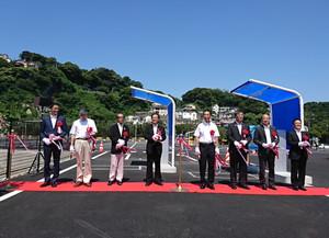 東京オリンピックセーリング競技運営エリア・江の島かもめ駐車場・艇置場  竣工式
