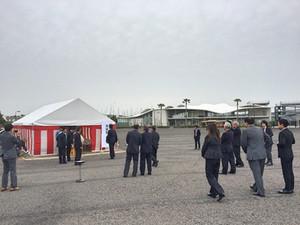 東京オリンピックセーリング競技運営エリア・江の島かもめ駐車場・艇置場  地鎮祭