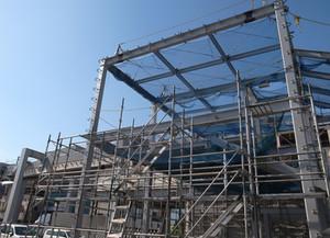 湘南モノレール  富士見町(下り)駅舎  上棟
