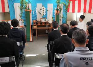 菊水酒造  製品展示・販売コーナー改装  安全祈願祭