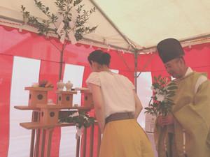 白金の家 地鎮祭