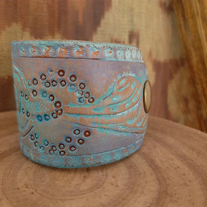Embossed Leather Cuff