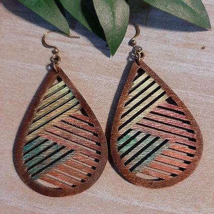 Rustic Wood Earrings