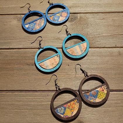 Moroccan Wood Earrings