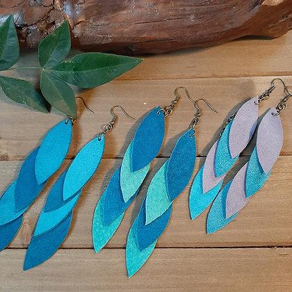 Falling Leaves Suede Earrings
