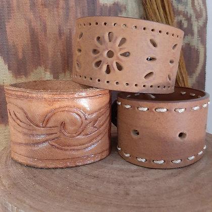 Tan Leather Cuffs