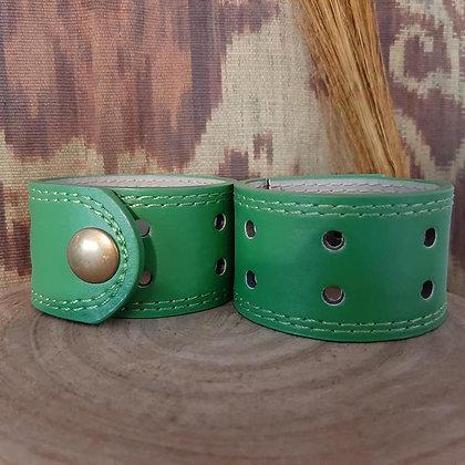 Green Leather Cuff