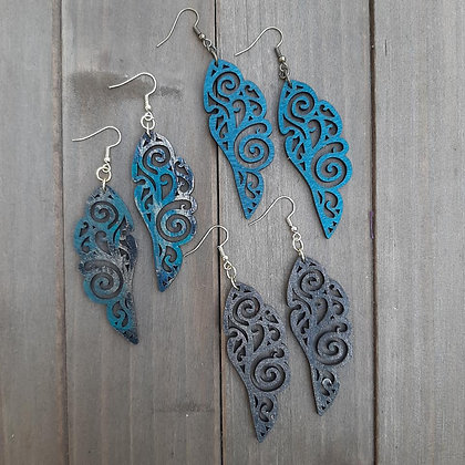 Wood Laser Cut Earrings