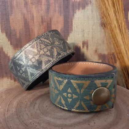 Painted Leather Cuffs