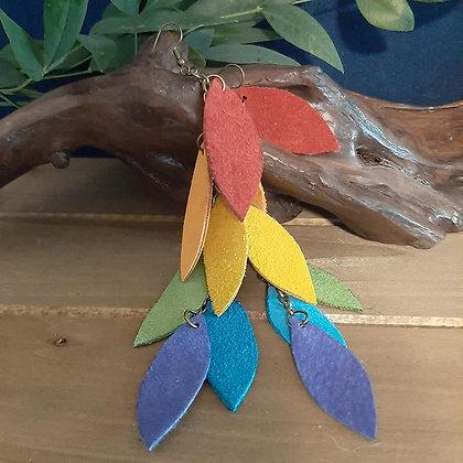 Rainbow Suede Earrings