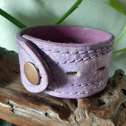 Purple Wash Leather Cuff