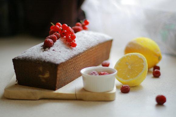 Лигурийский пирог с лимоном и малиной