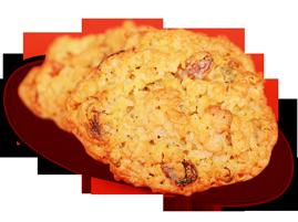 Овсяное печенье с цукатами и тыквенными семечками