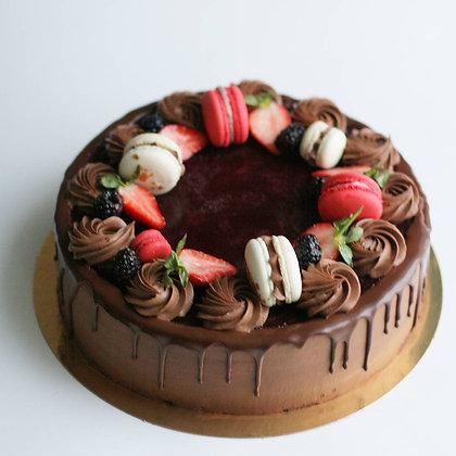 """""""Шоколадный бисквитный торт с вишней"""""""