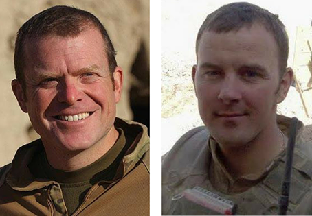 Major Matthew Collins and Lance Sergeant Mark Burgan, 1st Battalion Irish Guards.