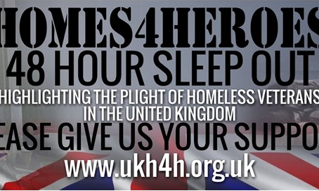 48 Hour Sleep Out for UK Homes 4 Heroes