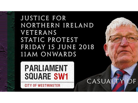 Sapper Ken from Veterans Radio Net urges you to email MP's ahead of Justice For Northern Ireland