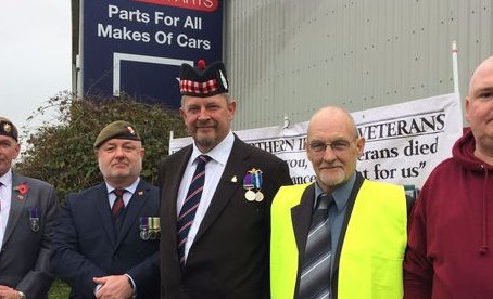 Justice For Northern Ireland Veterans Protest Against Jeremy Corbyn's Visit to North Devon