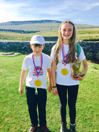 Ethan Stansfield, 10, and Katie Coates, 11
