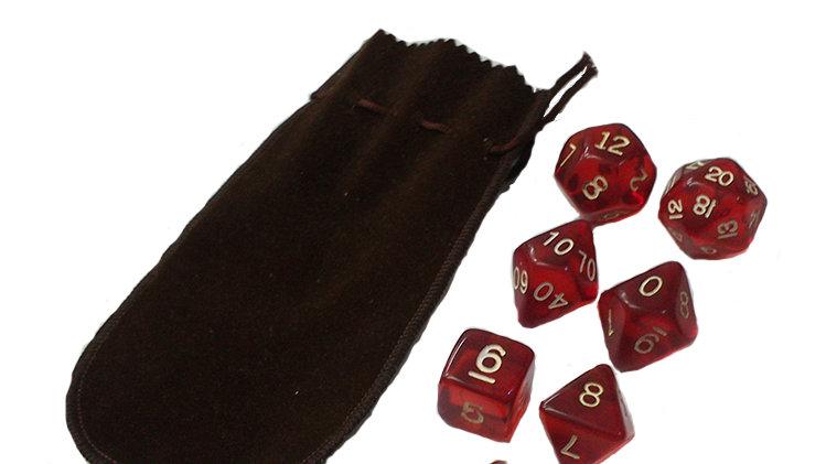 Kit RPG - Dados Vermelhos