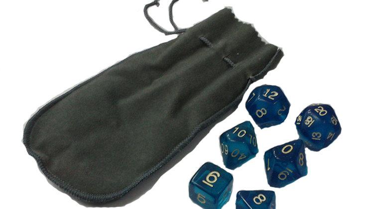 Kit RPG - Dados Azuis