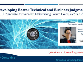 Join our next Online Networking Forum Event 'Developing Better Technical and Business Judgment'