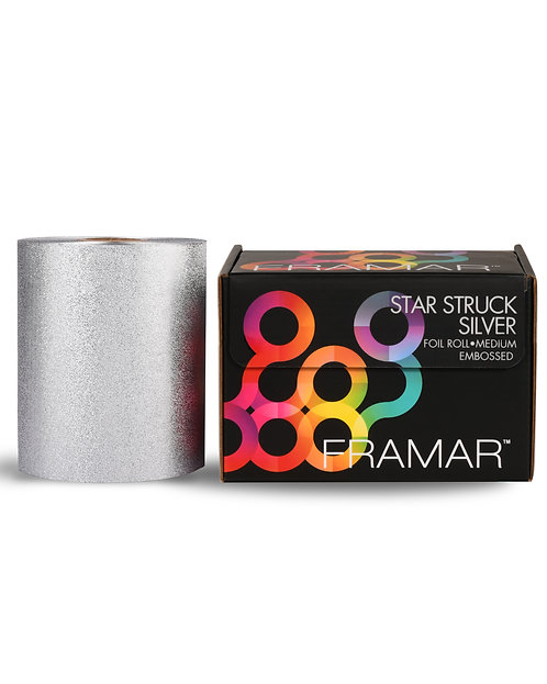 Star Struck Silver Embossed Roll (R-EMB-MSIL)