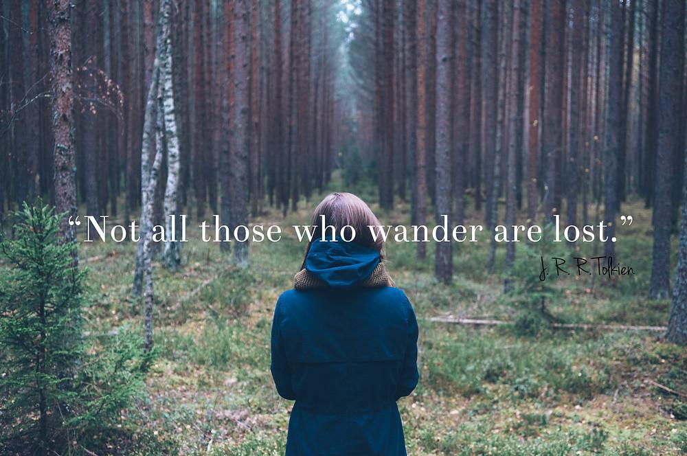 J.R.R. Tolkien wander quote