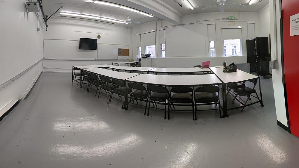 My classroom at AAU