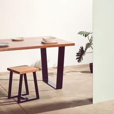 Angled Flat Steel Table Legs