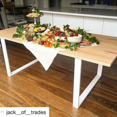 Table with Flat Steel Dining Table Legs