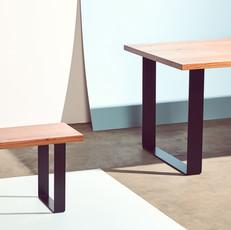 Table with Steel Hoop Legs