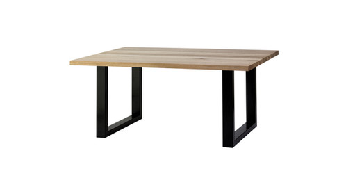 p dining table square township brushed aluminum zuo modern vive