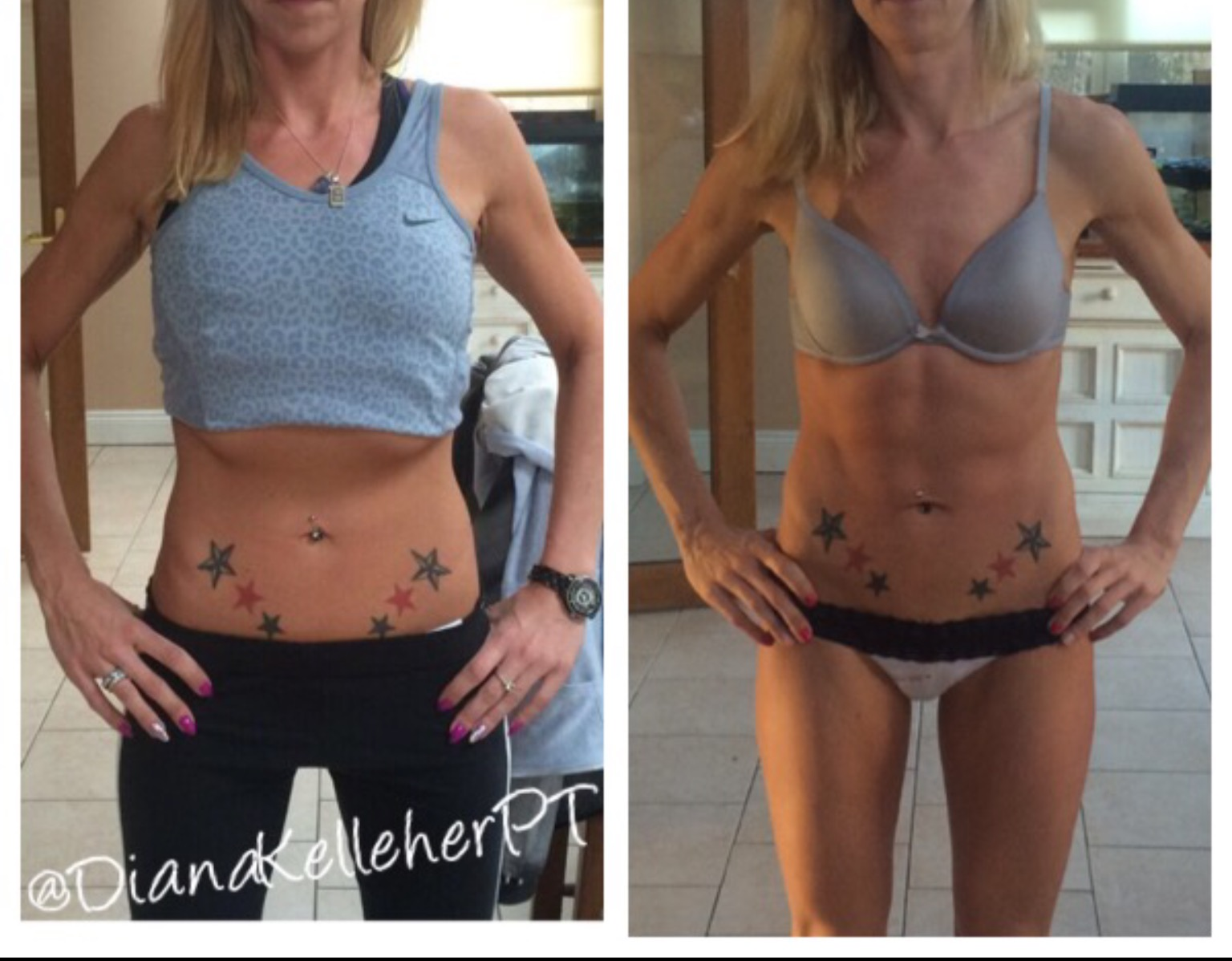 Before and after personal trainer cork