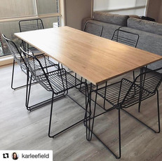 Table with 3 Rod Hairpin Legs