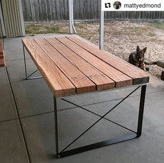 X Frame Table Legs for Outdoor Table
