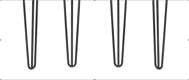 Short Hairpin Leg 10mm- 3 Rod