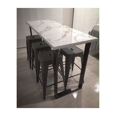 Crushing on _rahneenisbett beautiful marble table with our custom made flat steel legs! Fine dinning at its best! Thank you for sharing _rah