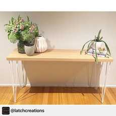 Beautiful table by _latchcreations! Absolutely adoring the hard graft & talent in Melbourne at the moment 👌🏻 Legs by _australianhairpinlegs_