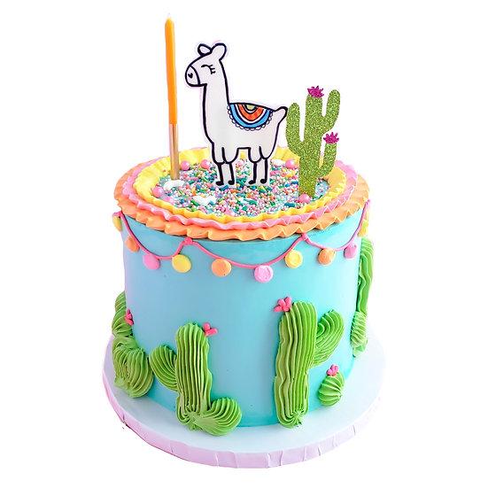Llama Fiesta Cake