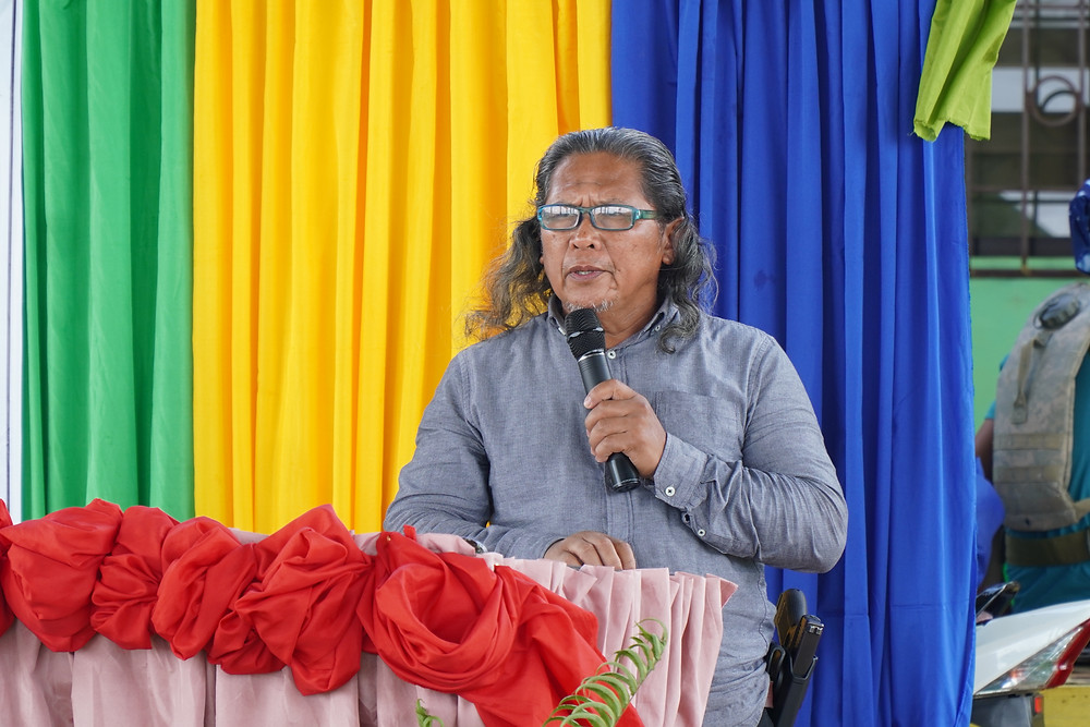 Former MILF and BARMM Member of Parliament, Hon. Abdullah 'Kumander Bravo' Macapaar, stated that all support from government go directly to the people of Camp Bilal during the launch of ATI's agriculture training program in Sitio Cura-Cura, Tamparan, Munai, Lanao del Norte. (Photo: J.Umaran/HRS Media)