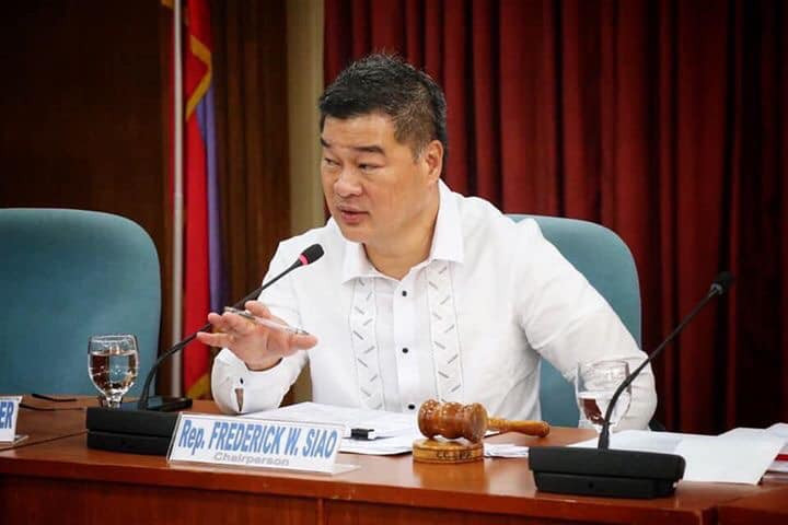 File Photo: Iligan City Lone District Rep. Frederick W. Siao, Vice-Chair of the House Committee on Information & Communications Technology