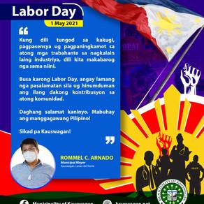 Labor Day message from Mayor Rommel Arnado