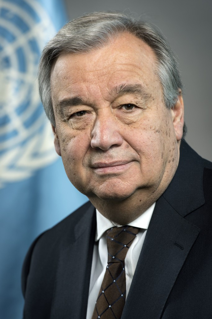 António Guterres, Secretary-General of the United Nations.