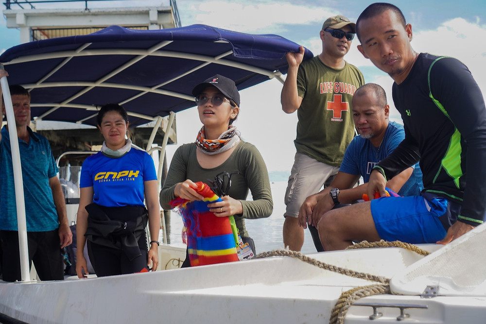 GNPK divers take the lead in Scubasura, an underway cleanup activity organized with LGU Kauswagan and the Philippine Coast Guard. (Photo: J.Banque/HRS Media)