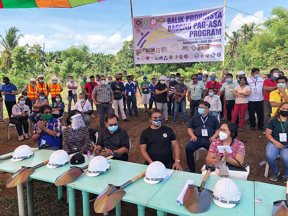 Nagpahayag ng kani-kanilang suporta ang mga representante ng DTI, TESDA, at DSWD sa Balik Probinsiya, Bagong Pag-Asa Program sa Kauswagan, Lanao del Norte. (Photo: H.Clavite)