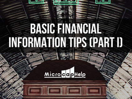 Basic Financial Information Tips (Part I)